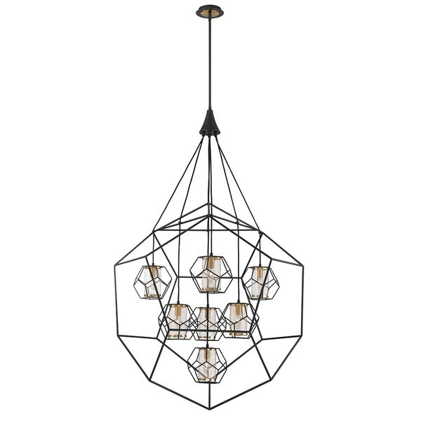 Eurofase Bettino Metal Caged 7-Light Chandelier