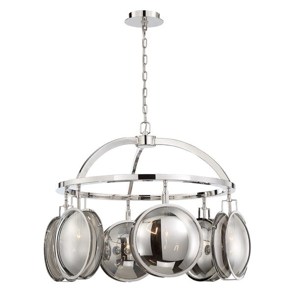 Eurofase Havendale Mercury Glass 6-Light Sphere Chandelier - 33712-017