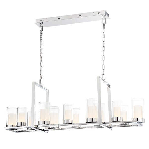 Eurofase Londra LED Rectangular Chandelier in Chrome - 34037-010