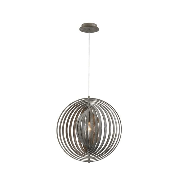 Eurofase Abruzzo Sleek Retractable Wood Medium Light Pendant in Weathered Finish - 31873-025