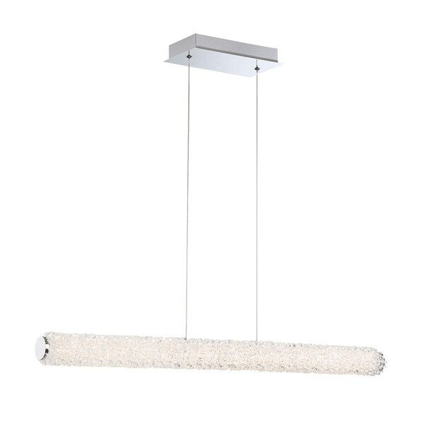 "Eurofase Sassi LED Small Linear Chandelier - 34154-014 - 2.75"" high x 36"" wide x 2.75"" long"