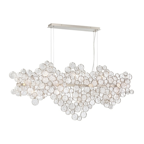 Eurofase Trento Clustered Glass 15-Light Oval Chandelier - 34032-015