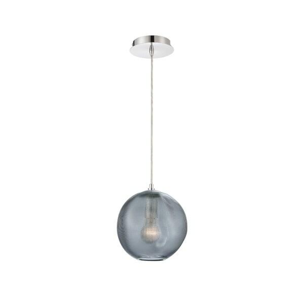 Eurofase Della Small Round Glass Pendant in Smoke - 34035-023