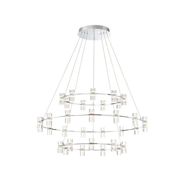 "Eurofase Netto LED Large 3-Tier Ring Chandelier - 33726-014 - 4"" high x 40.5"" in diameter"