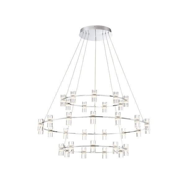 Eurofase Netto LED Large 3-Tier Ring Chandelier - 33726-014