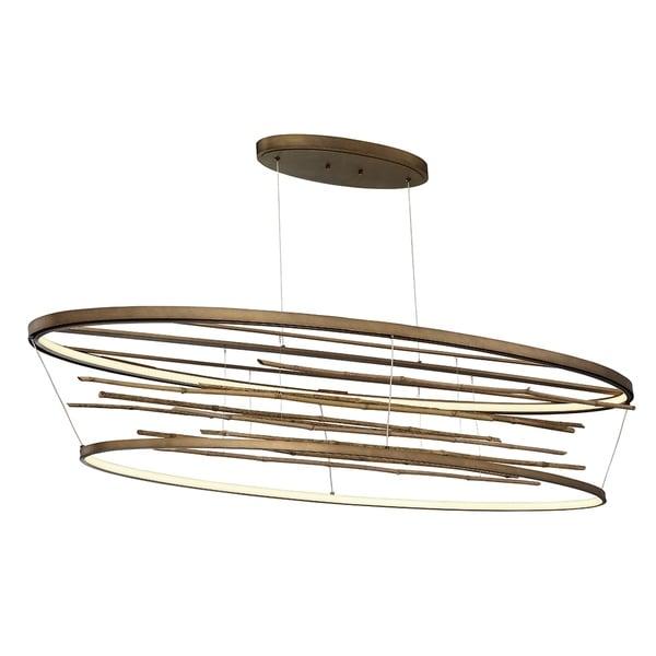 Eurofase Bobina Bamboo Large Oval LED Chandelier - 34061-015