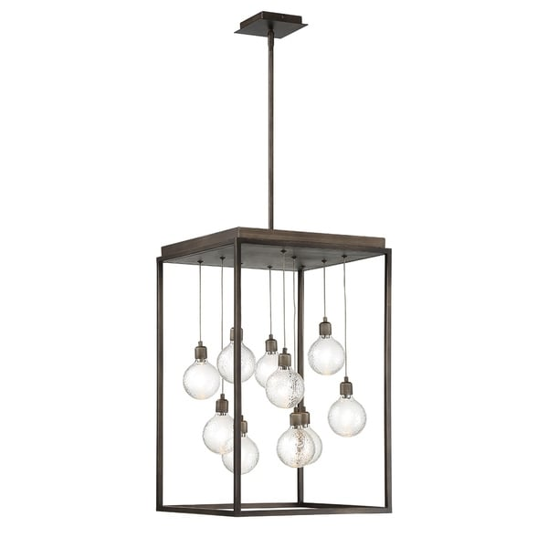 Eurofase Zarina Metal 10-light LED Chandelier