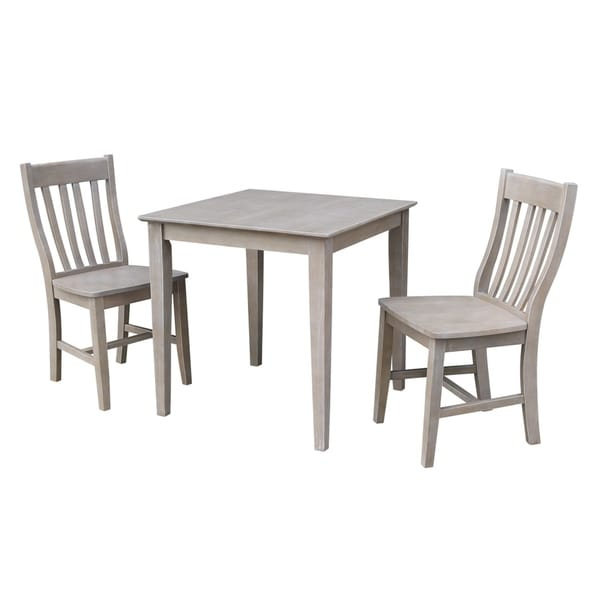 Solid Wood Dining Table And Chairs: Shop Solid Wood Dining Table And 2 Cafe Chairs In Washed