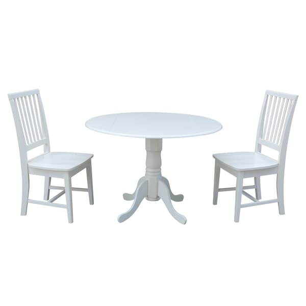 Shop 42 Inch Dual Drop Leaf Dining Table With Two Mission