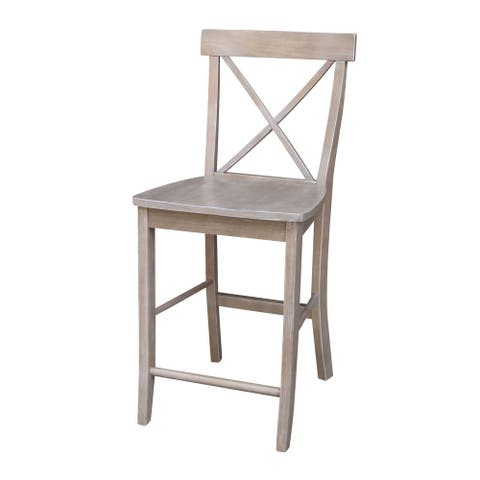X-back Stool in Washed Gray Taupe