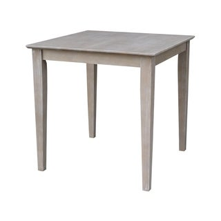 "Solid Wood 30"" x 30"" Table in Washed Gray Taupe - washed gray taupe"