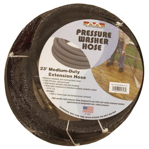MI-T-M 3500 psi 3/8 in. 23 ft. L Power Washer Hose