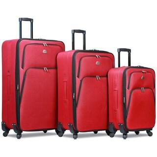 World Traveler Hipack 3-Piece Expandable Spinner Upright Luggage Set