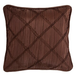 HiEnd Accents Batiste Pillow with Rouching Details, 18x18