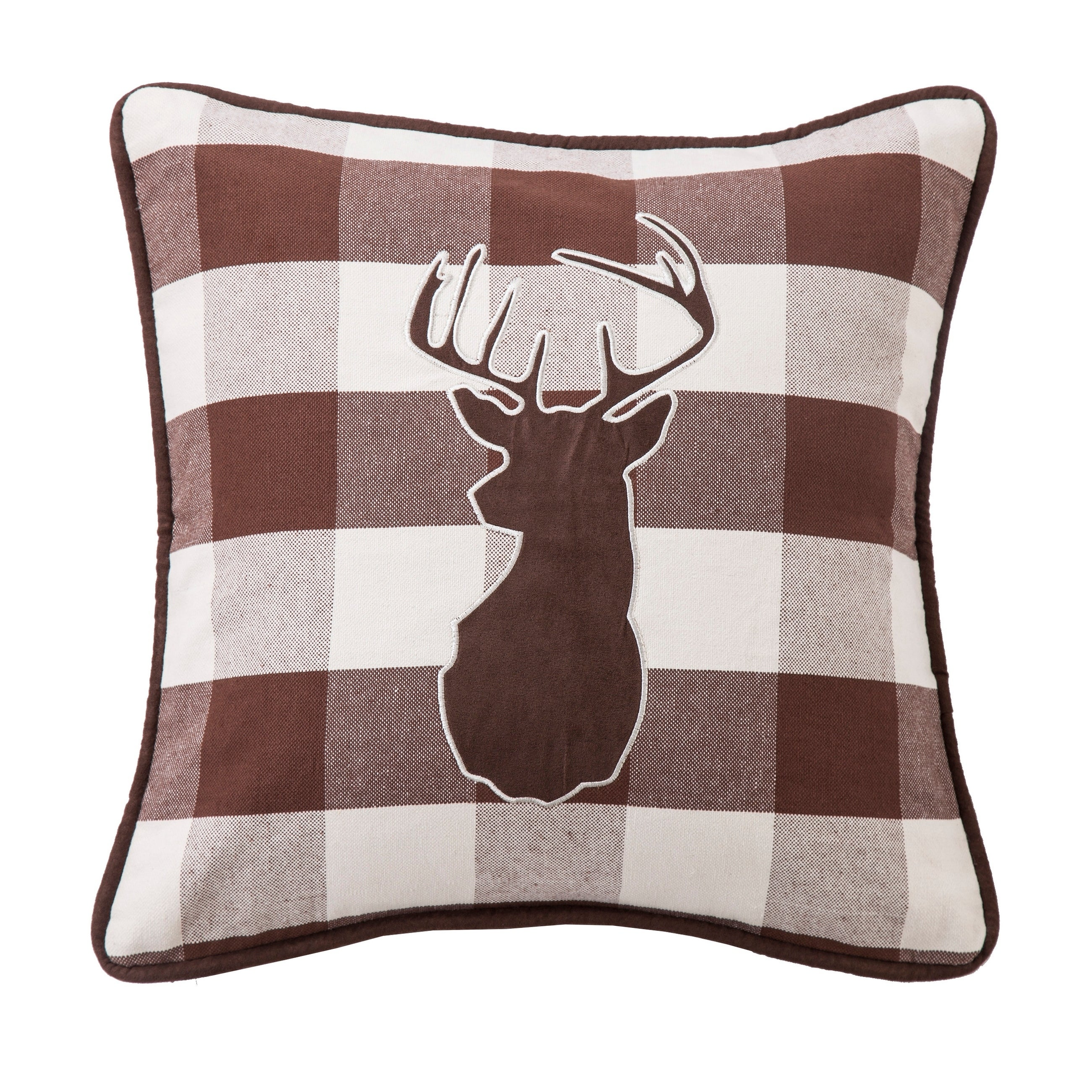Superb Details About Deer Pillow Embroidered Rustic Sofa Bed Decor Cabin Lodge Man Cave Gift New Theyellowbook Wood Chair Design Ideas Theyellowbookinfo