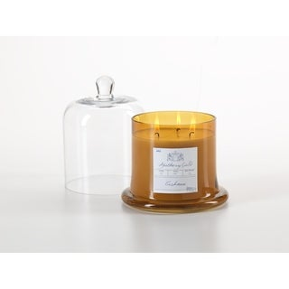 Large Glass Jar Candle with Bell Cloche, Cashmere Scented