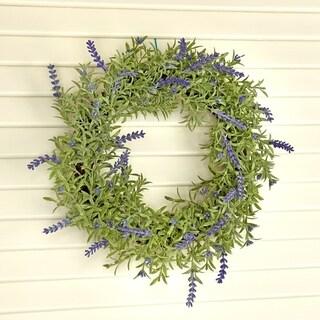 14 Inch Plastic Lavender Wreath