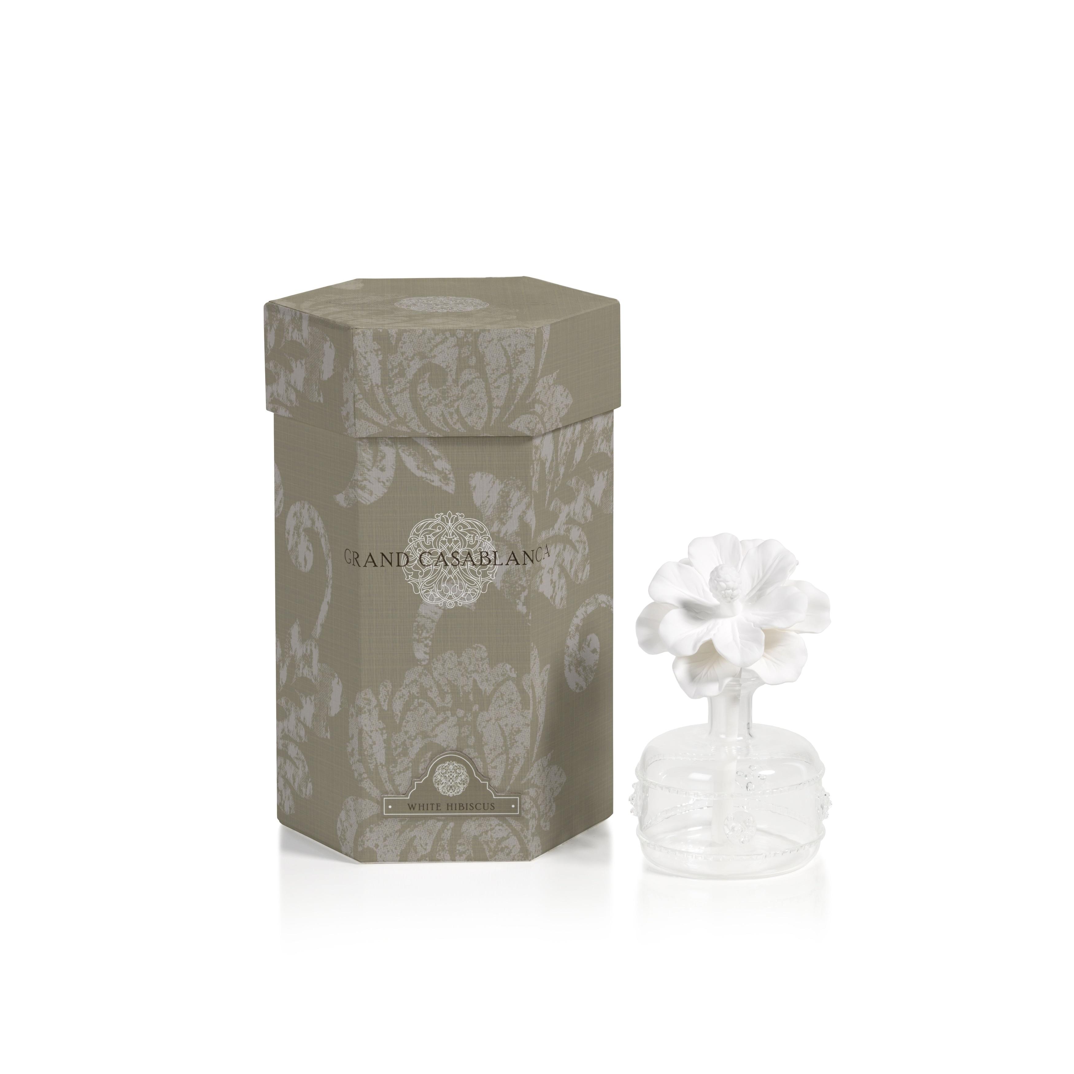 Mini Grand Casablanca Porcelain Diffuser White Hibiscus