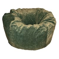 Ahh! Products - 36 Inch Wide Washable Large Bean Bag Chair - Microsuede Velvet Dark Olive