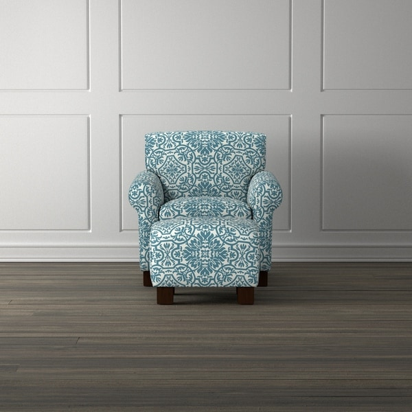 Shop Handy Living Winnetka Blue Damask Arm Chair And
