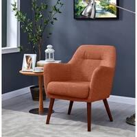 Handy Living Julesburg Mid-Century Modern Red Textured Strie Arm Chair