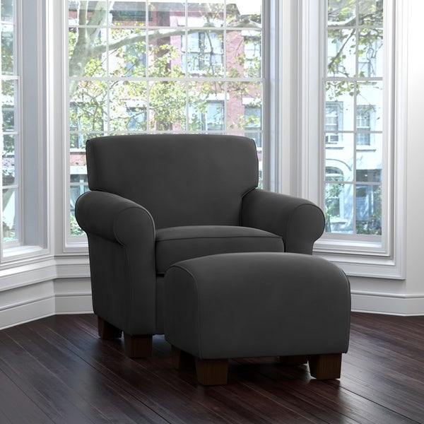 Shop Handy Living Winnetka Grey Velvet Arm Chair And