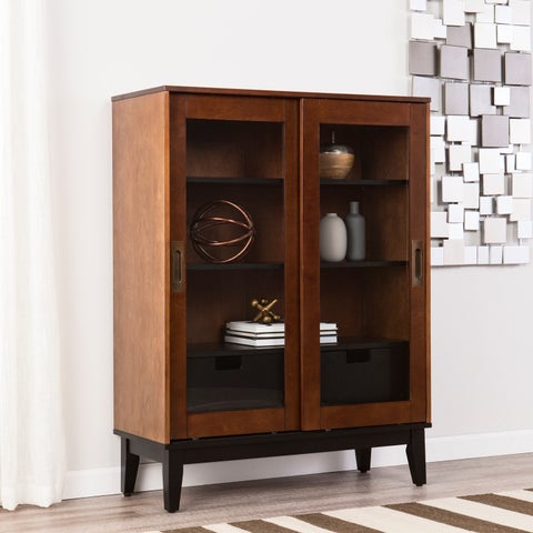 Holly & Martin Zhang Display Cabinet - Dark Tobacco w/ Black