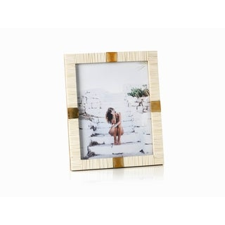 "Maha Bone with Brass Trim 8""x 10"" Picture Frame"