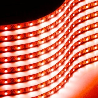 Zone Tech 30cm Flexible Waterproof Red Light Strips  8-Pack LED Car Flexible Waterproof Red Light Strips
