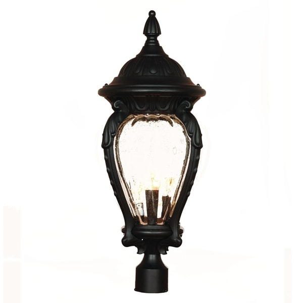 Acclaim Lighting Nottingham Collection 26-inch, 4-Light Outdoor Post-Mount Matte Black Light Fixture