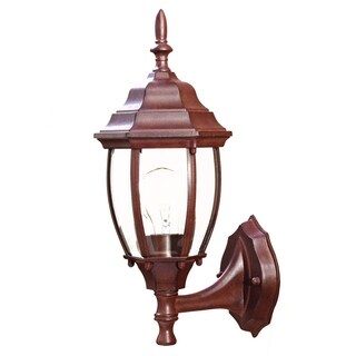 Acclaim Lighting Wexford Collection 15.5-inch, 1-Light Burled Walnut Wall-Mount Light Fixture