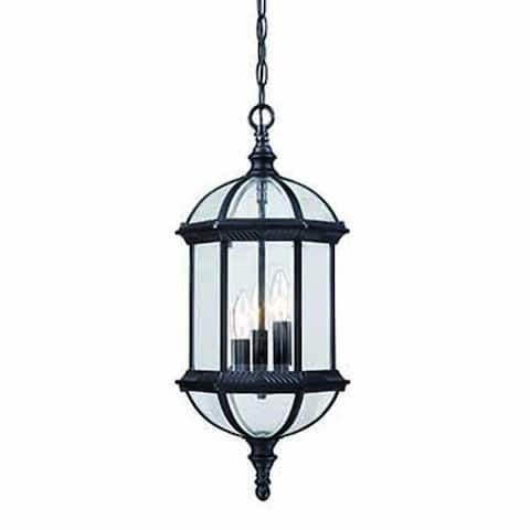 Dover 3-light Matte Black Outdoor Hanging Lantern