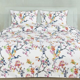 Botanical 3-Piece Patterned Duvet Set (Full/Queen, King)