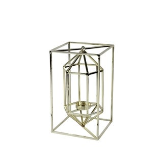 Sagebrook Home METAL & GLASS VOTIVE CANDLE LANTERN, SILVER