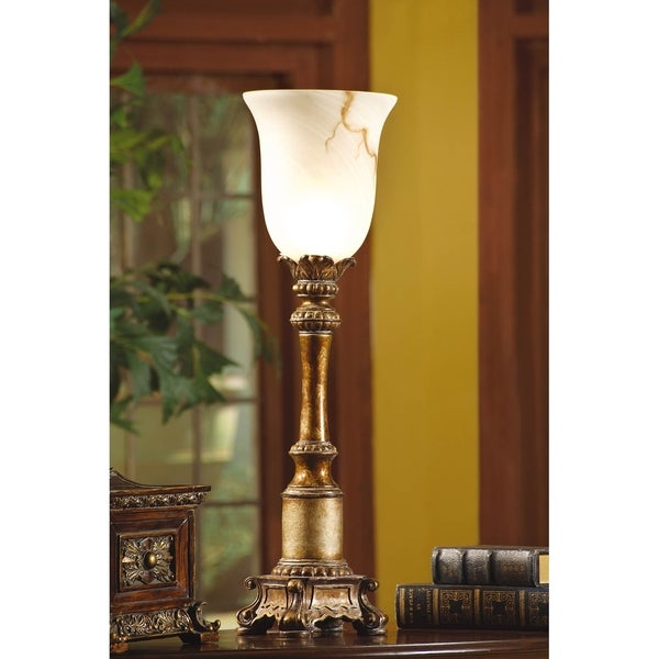Sanders Gold 31-inch Torchiere Lamp