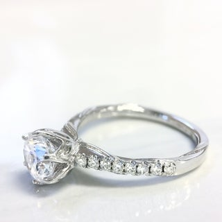 Lihara and Co. 18K White Gold 1/4ct TDW White Diamond Semi-Mount Engagement Ring (G-H, VS1-VS2) (More options available)