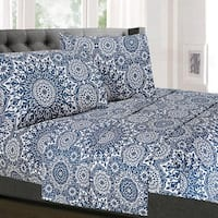 Oasis 4-Piece Patterned Deep Pocket Sheet Set