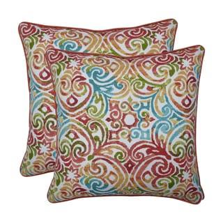 Pillow Perfect Outdoor / Indoor Corinthian Dapple Blue 18.5-inch Throw Pillow (Set of 2)
