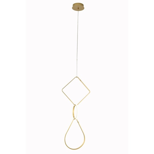 Contempo Lights Aeriel Gold Finish Aluminum Pendant Lamp