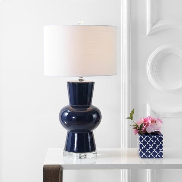 "Julia 28.5"" Ceramic Table Lamp, Navy by JONATHAN Y"