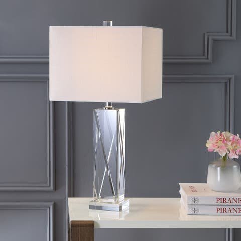 "Sullivan 26.5"" Crystal LED Table Lamp, Clear by JONATHAN Y"
