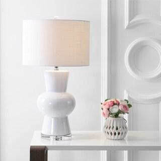 """Julia 28.5"""" Ceramic LED Table Lamp, White"""