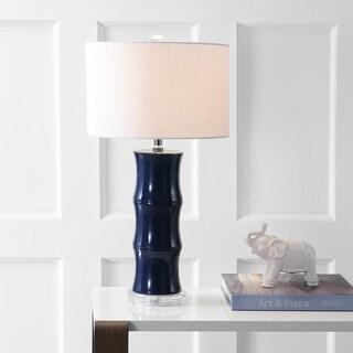 "Tiki 26.5"" Ceramic LED Table Lamp, Navy"