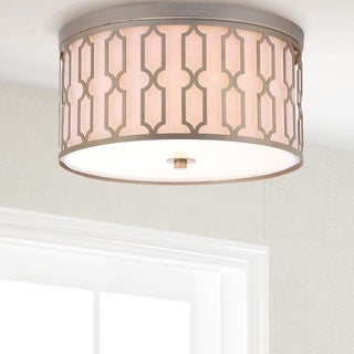 "Link 3-Light 16.75"" Metal LED Flush Mount, Soft Gold"