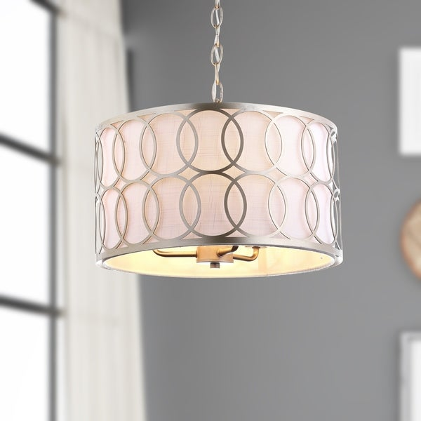 "Loop 3-Light 16"" Metal LED Pendant, Soft Gold"