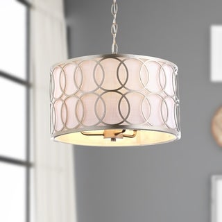 "Loop 3-Light 16"" Metal LED Pendant, Soft Gold by JONATHAN Y"