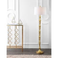 "Jaxon 62.5"" Metal LED Floor Lamp, Gold"