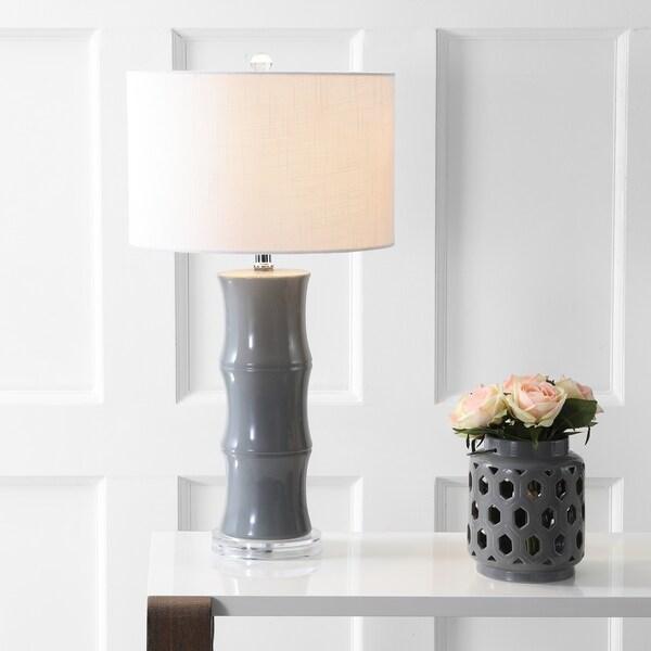 "Tiki 26.5"" Ceramic Table Lamp, Grey by JONATHAN Y"