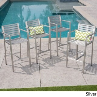 Cape Coral Outdoor Barstool (Set of 4) by Christopher Knight Home