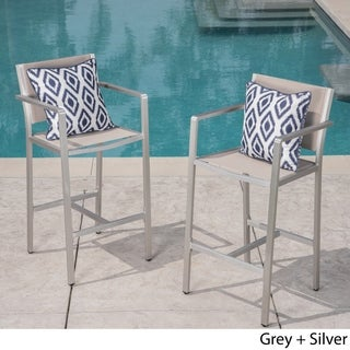 Cape Coral Outdoor Barstool (Set of 2) by Christopher Knight Home